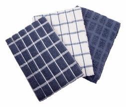 Ritz  Federal Blue  Cotton  Kitchen Towel  3 pk