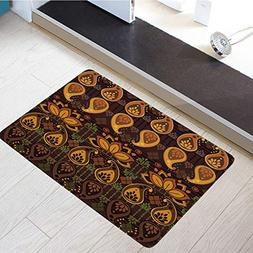 Flannel Microfiber Door Mat Bathroom Rugs Floor Mats Washabl