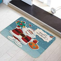 Flannel Microfiber Door Mat Bathroom Rugs Floor Mats Washabl