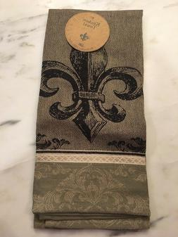 DII Fleur De Lis Kitchen Towel Beige Decor