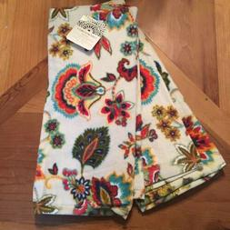 Cynthia Rowley Floral Kitchen Towels Fall Autumn Colorful Pl
