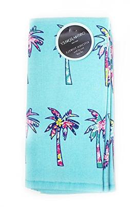 Cynthia Rowley Floral Palm Trees Kitchen Towel Set
