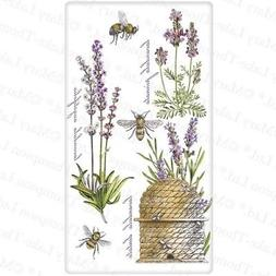 Flour Sack Kitchen Dish Towel Botanical Lavender Mary Lake -