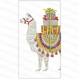 Flour Sack Kitchen Dish Towel Christmas Llama Mary Lake - Th