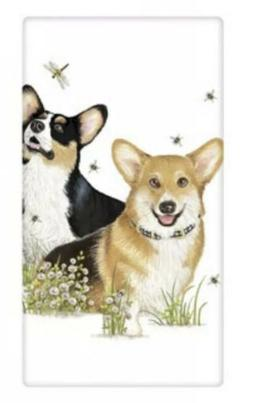 Flour Sack Kitchen Dish Towel Corgi Pals Mary Lake - Thompso