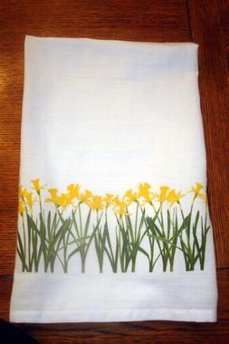 Flour Sack Kitchen Towel Daffodils