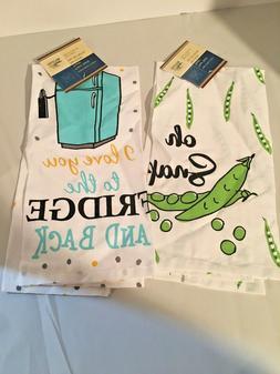 Flour Sack Kitchen Towel Spring Set of 2