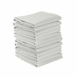 KAF Home Set of 12 White WRINKLED Flour Sack Kitchen / Chef
