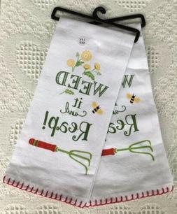 Flour Sack Kitchen Towels W/Garden Design by Kay Dee Designs