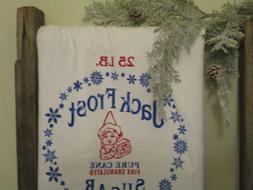 flour sack towel, tea towel,  Jack Frost towel, Kitchen Line