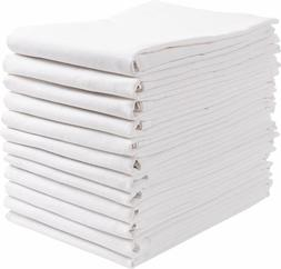 Flour Sack Towels 12 Pack 100% Natural Cotton Dish Towels Wh