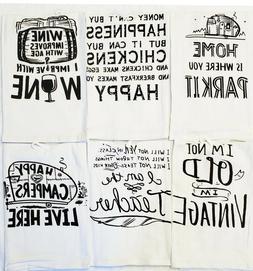 12 Pcs Printed Flour Sack Towels,100% Cotton,24x25 Kitchen T