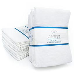 "Royal 12-Pack Flour Sack Towels - 31"" x 31"" Kitchen Towels -"