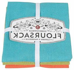 Now Designs Floursack Kitchen Towels, Set of Three, Bali Blu