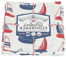 Now Designs Floursack Kitchen Towels, Set of Three, Ahoy Mat