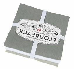 Now Designs Floursack Kitchen Towels, Set of Three, Gray/Whi