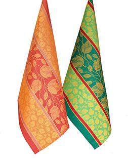 Armani International Foglio Kitchen Dish Towel Set of 4 Line