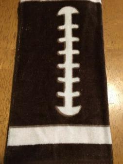 Ritz Football Brown/ White Kitchen 100% Cotton Towel