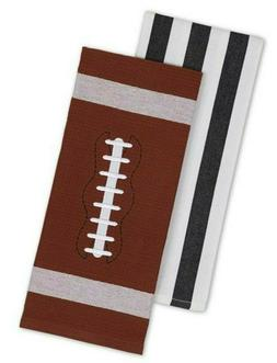 Football Themed Oversized Kitchen Towels by DII- Set of 2
