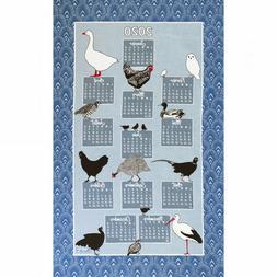 BEAUVILLE French Kitchen Towel 2020 Calendar Animal Chicken