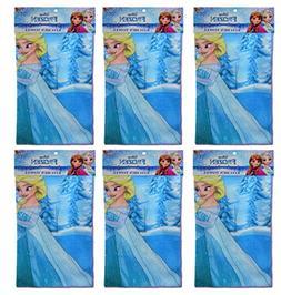 "6-Pack Disney Frozen Elsa & Anna 16x16"" Microfiber Hand Towe"