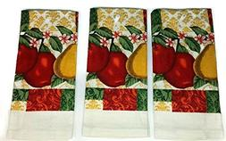 Fruit - Red Green Kitchen Towel Linens Bundle