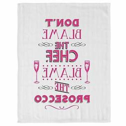 Fun Kitchen Tea Towel Cloth With Hanging Loop Don't Blame Ch