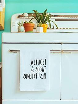 Funny Dishcloth/Tea Towel ~ Tequila, Tacos, Best Friends ~ F