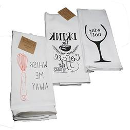 Twisted Anchor Trading Co Set of 3 Funny Kitchen Towels - Co