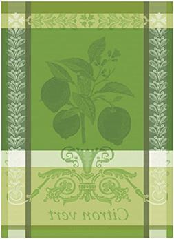 Garnier Thiebaut, Citron Vert  French Jacquard Kitchen Towel