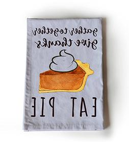 Amore Beaute Gather Together Give Thanks Eat Pie Printed Cot