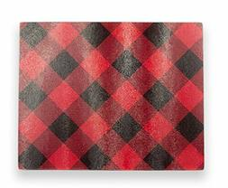 Brownlow Gifts Glass Cutting Board, Buffalo Plaid