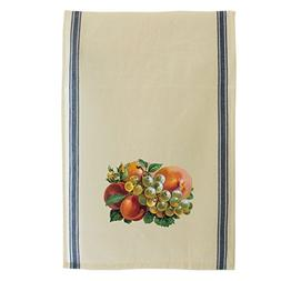 Dish Towel 4 Piece Pack Absorbent White Cotton Striped 15 x