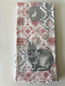 gray and pink easter bunny medallion kitchen
