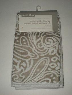 Gray  Microfiber Kitchen Dish Towels Set of 2  Soft Absorben