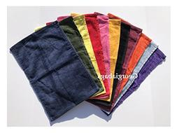 Georgiabags Great Value Towels, Forest Green Color Hemmed Fi