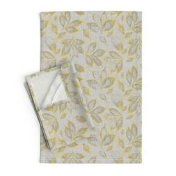 Yellow And Grey Kitchen Towels