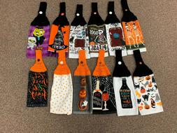 HALLOWEEN THEMED CROCHET HANGING KITCHEN TOWELS - NEW - YOU