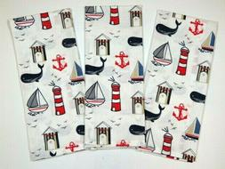 """Hand Towels Kitchen Dish Nautical Themed Linen Towels 25"""" X"""