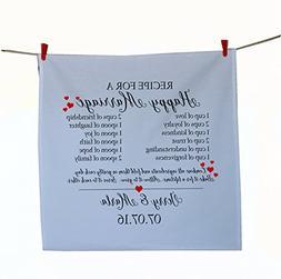 Amore Beaute Handcrafted Customized Wedding Tea Towel Recipe