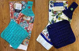 Handmade Crocheted Kitchen Towel Sets Wi