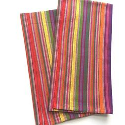 Handwoven Kitchen Towels, Ethically Sourced, Multi Color Fie