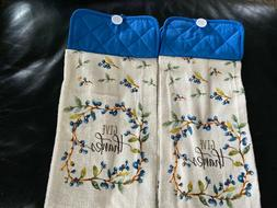 Handmade Hanging Kitchen Dish Towels with Pot Holder Top ~ G