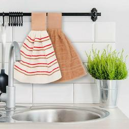 Hanging Kitchen Hand Towels and Dishcloths Sets with Loop 10