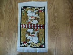 HAPPY CHEF DESIGN KITCHEN TOWEL SET OF 4 TOWELS
