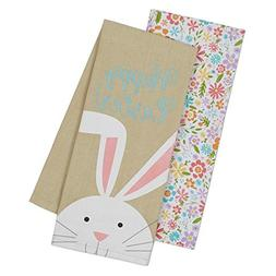 DII Happy Easter Kitchen Dish Towels Set of 2 Bunny Rabbit S