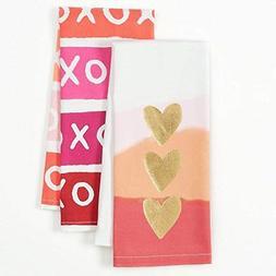 Happy Valentine's Day Flour Sack Kitchen Dish Towel 2 Pack w