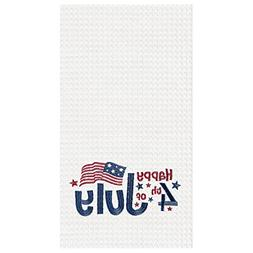 C&F Home Happy 4th of July Waffle Weave Kitchen Towel