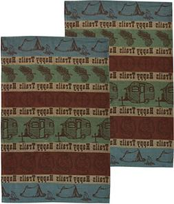 Happy Trails Outdoors Camping Cotton Jacquard Towel - Set of