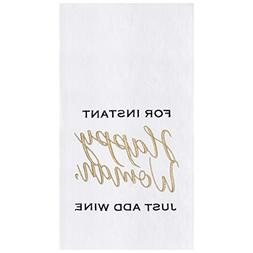 C&F Home Happy Woman Kitchen Embroidered Flour Sack Towel 0